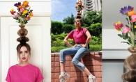 Te-a prins si pe tine noul trend? Aceste femei au o cu totul si cu totul alta idee despre purtatul florilor in par - FOTO