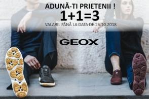 Brandul Geox sfideaza legile matematicii si lanseaza, incepand de astazi, promotia 1+1=3! Aduna-ti prietenii si profita de oferta - FOTO
