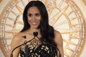 Meghan Markle, intr-o rochie fabuloasa! Uite cum a aratat in superba tinuta Oscar de la Renta - FOTO