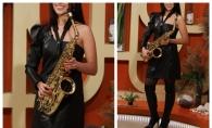 Fata cu saxofonul, sexy si senzationala! Vezi ce interpreta a facut furori in studioul O Seara Perfecta - VIDEO