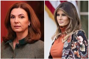 Primele doamne ale Moldovei si Americii, surprinse impreuna! Ce tinute au purtat Melania Trump si Galina Dodon la evenimentul din Franta? FOTO