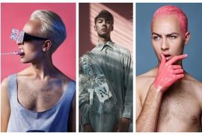 Extravagant si nonconformist, Nathaniel Kowalsky a incercat o gama larga de culori in parul sau: