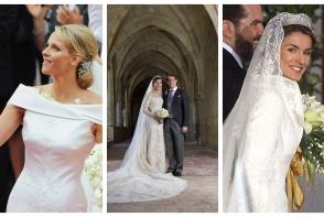 Lux si eleganta! Vezi care sunt cele mai spectaculoase rochii de mireasa de la nuntile regale - FOTO