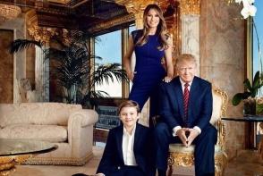 Barron, fiul Melaniei si al lui Donald Trump, aparitie neobisnuita. La 12 ani, adolescentul are peste 1,80 metri - FOTO