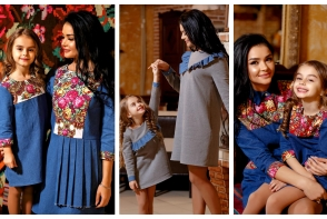 Kamelia si Tatiana Melnic, intr-un pictorial fashion spectaculos. Mama si fiica au purtat tinute din denim american, cu accente romanesti - VIDEO