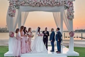 Lux si exuberanta la nunta unei moldovence in Dubai. Mirii au dat o petrecere de calibru regal - VIDEO