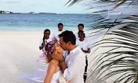 Lidia Buble si Razvan Simion s-au casatorit in secret? Iat-o in rochie de mireasa, pe o plaja din Maldive - FOTO